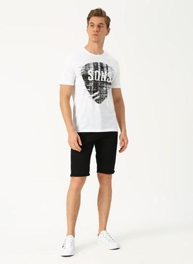 Only & Sons Only & Sons Baskılı O Yaka Beyaz T-Shirt Beyaz